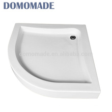 High quality sells on white smooth solid surface shower basin