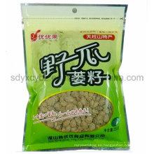 Bolsa de empaquetado de plástico plano de alimentos de sellado 3 lados personalizado