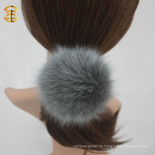 Mezcla de colores genuinos Fox pelota pelo elástico banda de pelo