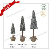 H59-97cm PE Regalos plásticos de la Navidad y árbol de Navidad de la nieve falsa