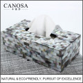 Hot Sale Black Mother of Pearl Tissue Box Holder