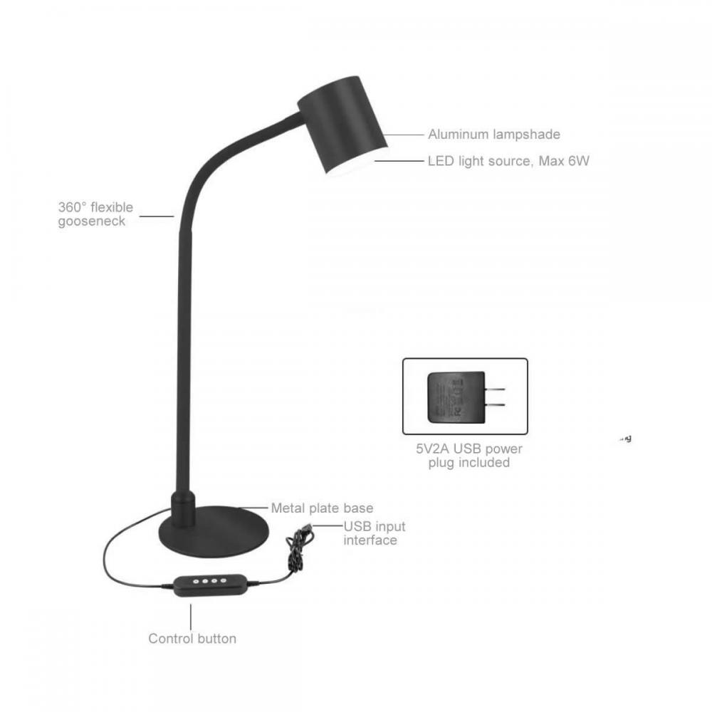 Led Table Lamp Black 3