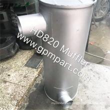 GPM Part Good Price HD820 Excavator Muffler