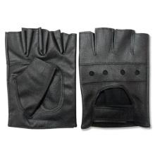 Мужская мода черный PU кожаные Беспалые перчатки водителя (YKY5036)