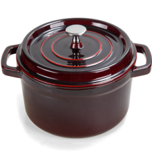 Hot Selling Chocolate Cast Iron Enamel Casserole /Pot