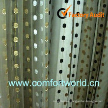 2013 nuevo diseño turca cortina de 75% poliéster 25% Viscoce con bordado