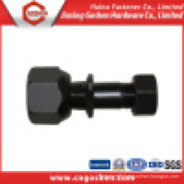 High Strength Black Track Bolt with Heavy Hex Nut