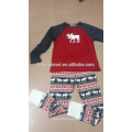 2017 Bulk Wholesale Kids Clothing Children Girls Deer Print Soft Cotton Kids Christmas Pajamas