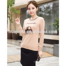 2014 fashion women's intarsia cashmere sweater