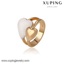 14450 Wholesale fashion ladies jewelry Irish style double hearts shaped finger ring for gift