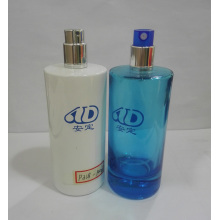 Ad-P318 Venta al por mayor de materia prima de color vacía Pet botella de perfume 100ml