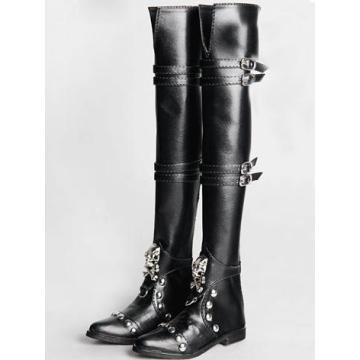 BJD 70cm Male Shoes Black High Boots Rshoes70-3
