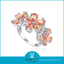 De boa qualidade 925 prata esterlina dedo anelar atacado (sh-r0183)