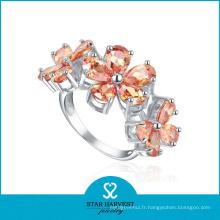 Boucles d'oreille en argent massif fleur en forme de fleur (SH-R0183)