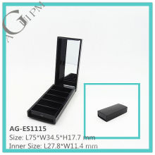 Five Grid Rectangular Eye Shadow Case With Mirror AG-ES1115, AGPM Cosmetic Packaging, Custom colors/Logo
