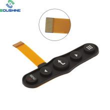 Interruptor de membrana de capa FPC de domo de metal con teclado de silicona