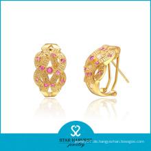 Neueste Gold Plating Silber Ohrring Schmuck für Promotion (E-0154)