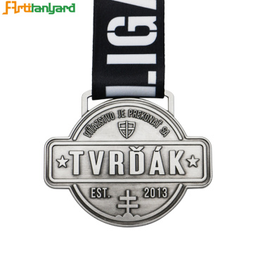 Personalized Soccer Metal Medals With Ribbons