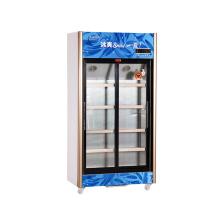 518L Вертикальный нижний блок Скользящий многодверный дисплей Холодильник