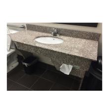 Mais vendidos G664 polido pré-fabricado banheiro granito baixo preço vaidade bancada banheiro tampos de granito brasil