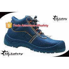 SRSAFETY 2015 осень высокого качества тиснение корова сплит кожа безопасности обувь, оборудование для обеспечения безопасности