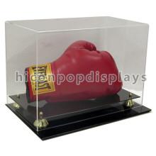 Custom Design Large Clear Acrylic Display Case, Desktop Single Boxing Gloves Display Case