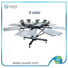 Handbuch 8 Farbe Seide Siebdruckmaschine