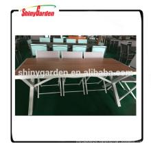 Garden aluminium plate table and chair set