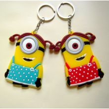 Customize Promotional Gift Cheap Silicone Keyring From Manufacture
