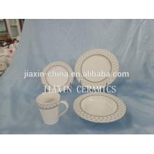 Ensemble de salle à manger en porcelaine ronde 20 pièces