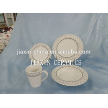 High quality round shape 20 pcs porcelain dinner set