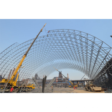 Steel Space Frame Coal Storages Construction Building Dome Roof