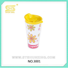 Cartoon pattern home use hot sealing cheap ps plastic cup for wholesale