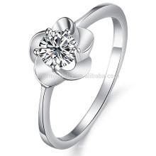 Vente en gros anneau de luxe en or blanc anneau de strass bijoux de mariage dj906