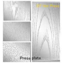 Technische Daten Pressplatte für Textur auf Laminate / Pressplatte für Melamin MDF Pressplatte für HPL
