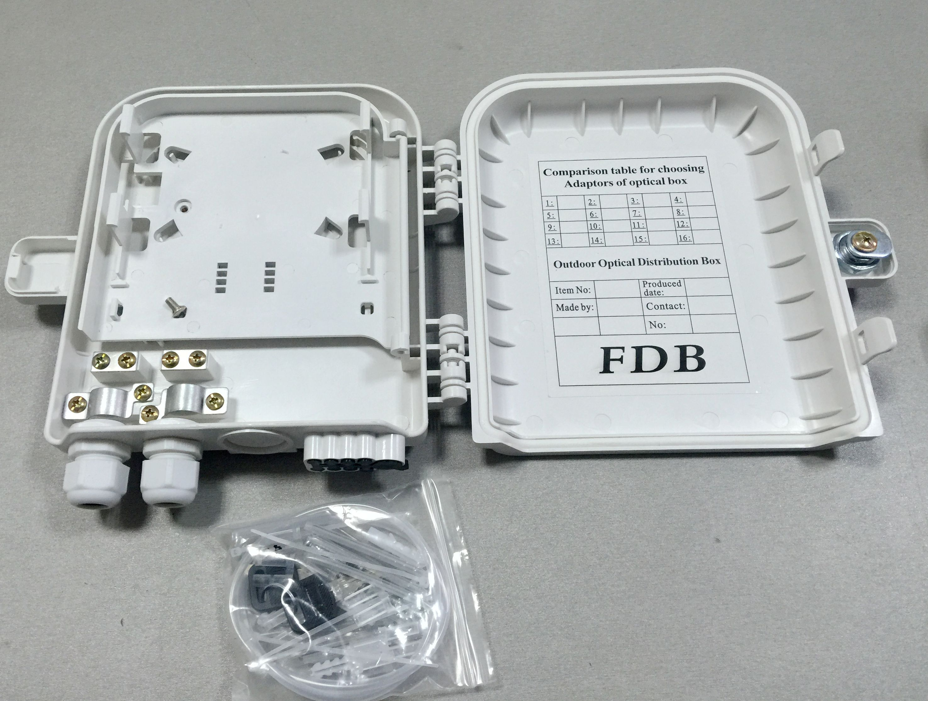 8 cores fiber splitter box
