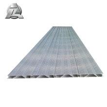 couvertures en aluminium antidérapantes pour tablier de pont