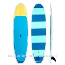 stripe design vivid color Yoga cruise paddle sup motorized surfboards for sale
