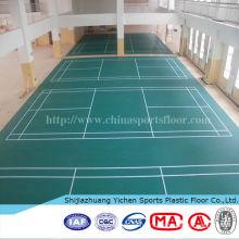 tapis de sol en plastique de sport tapis de badminton tribunal pvc