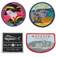 High Quality Custom Woven Garment Badge Iron on Clothes Patches for Clothing