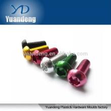 Vis en aluminium anodisé, vis à tête hexagonale à boutons à tête hexagonale ISO7380