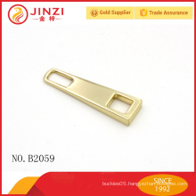 Factory wholesale blank without logo zinc alloy cheap custom zipper pulls