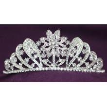 Wholesale New Designed Custom Crystal Crown Wedding Tiara