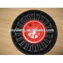 10 x 300-4 rueda sólida de caucho para carretilla de servicio / de la carretilla