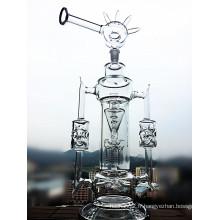 2016 Nouvelle arrivée en gros Recylce Glass Water Pipe
