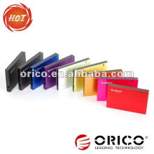 ORICO 2595SUS3 1TB 2.5 '' Interfaces de alumínio e-SATA e USB3.0 Gabinete de HDD externo