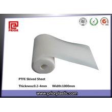 Fabriqué en Chine Skived téflon PTFE feuille