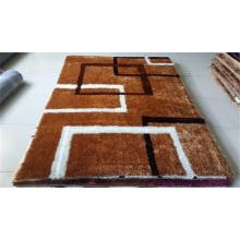 Handgefertigte 1200d Korea Silk Polyester Shaggy Teppich Tianjin