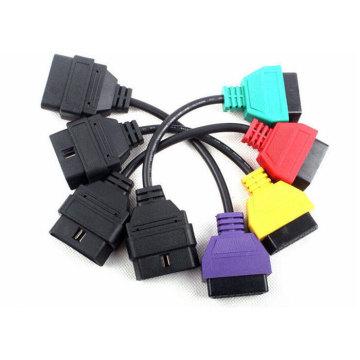 для диагностики OBD адаптеры сканирования ЭБУ FIAT кабель 4colors