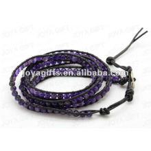 Freundschaftsverpackung Armbänder mit Amethyst 4mm runde Perlen
